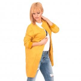 Κίτρινο Σουέτ Blazer Σακάκι