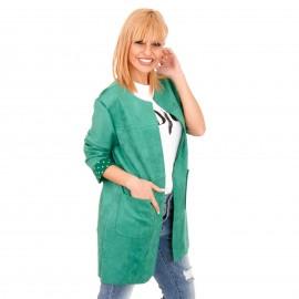 Πράσινο Σουέτ Blazer Σακάκι