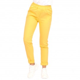 Κίτρινο Παντελόνι με Γύρισμα στο Ρεβέρ