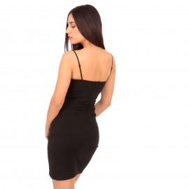 Μαύρο Αμάνικο Mini Φόρεμα