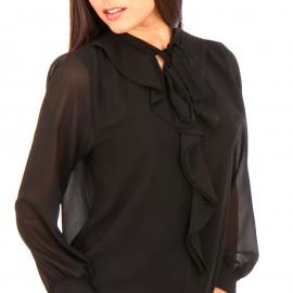 Μαύρη Μπλούζα με Φραμπαλά
