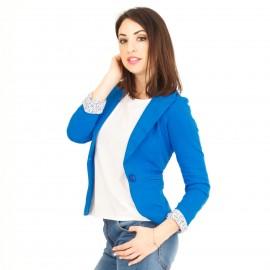 Μπλε Ρουά Cropped Σακάκι