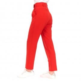 Κόκκινο Παντελόνι με Ζώνη