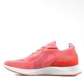 Κοραλί Sneakers Tamaris με Δίχτυ