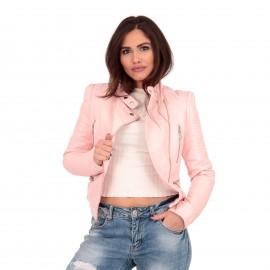Ρόζ Ματ Biker Jacket