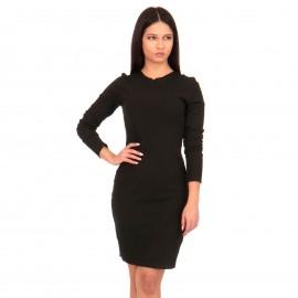 Μαύρο Ripped Mini Φόρεμα