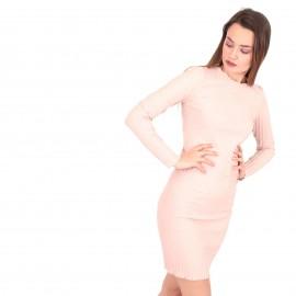 Ρόζ Ripped Mini Φόρεμα