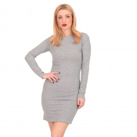 Γκρι Ripped Mini Φόρεμα