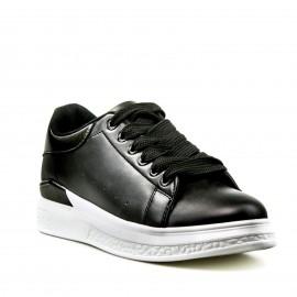 Μαύρα Sneakers με Ατσαλί Λεπτομέρειες