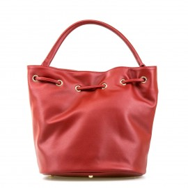 """Κόκκινη Τσάντα Χειρός """"Πουγκί' More Fashion"""