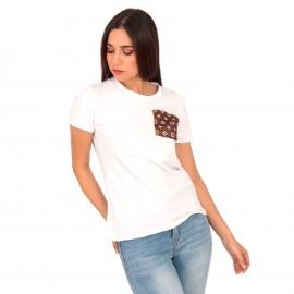 Λευκό T-Shirt με Τσεπάκι
