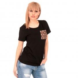 Μαύρο T-Shirt με Τσεπάκι