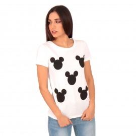 Λευκό T-Shirt με Στάμπες