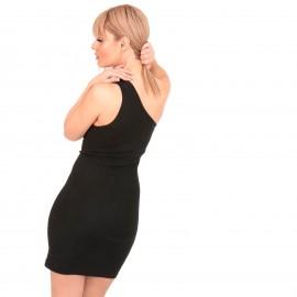 Μαύρο Mini Φόρεμα με Έναν Ώμο