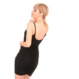 Μαύρο Mini Φόρεμα με Χιαστί  Άνοιγμα