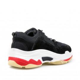 Μαύρα Δίπατα Suede Sneakers