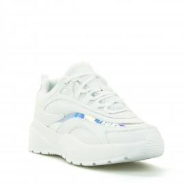 Λευκά Sneakers με Ιριδίζουσες Λεπτομέρειες