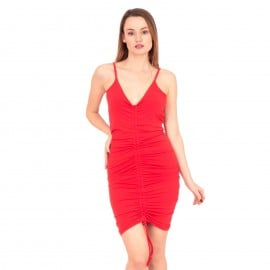 Κόκκινο Mini Φόρεμα με Ανοιχτή Πλάτη