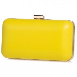 Κίτρινο Ματ Clutch Τσαντάκι Pierro