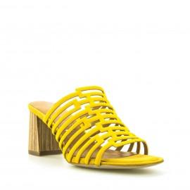 Κίτρινα Δερμάτινα Mules Tamaris