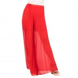 Κόκκινη Πλισέ Παντελόνα