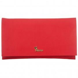 Κόκκινο Σουέτ Τσαντάκι Φάκελος με Μεταλλικό Logo Pierro