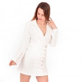 Λευκό Blazer Φόρεμα