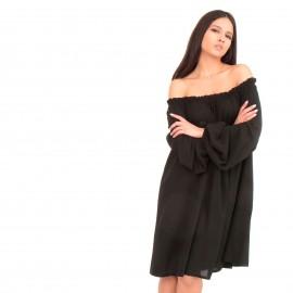 Μαύρο Off Shoulder Midi Φόρεμα