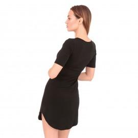 Μαύρο Κοντομάνικο Mini Φόρεμα