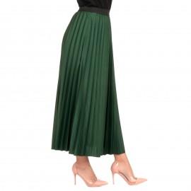 Πράσινη Πλισέ Maxi Φούστα