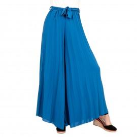 Μπλε Ρουά Φαρδιά Πλισέ Παντελόνα