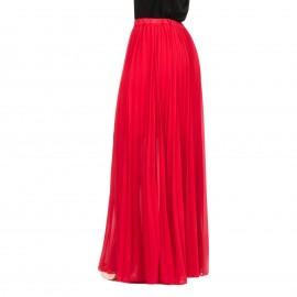 Κόκκινη Πλισέ Maxi Φούστα