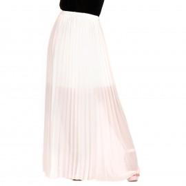 Λευκή Πλισέ Maxi Φούστα