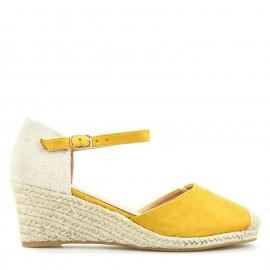 Κίτρινη Καστόρινη Πλατφόρμα Εσπαντρίγια με Λουράκι