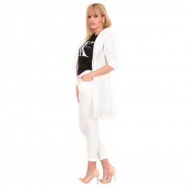 Λευκό Σετ Σακάκι - Παντελόνι