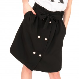 Μαύρη Midi Φούστα με Κουμπιά