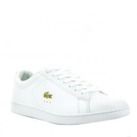 Λευκά Δερμάτινα Sneakers Lacoste με Χρυσή Λεπτομέρεια