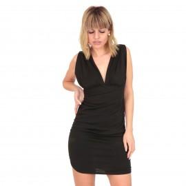 Μαύρο Mini Φόρεμα με Ανοιχτή Πλάτη