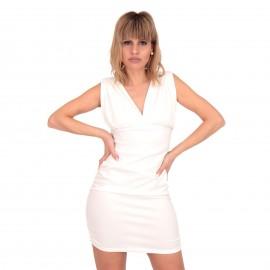 Λευκό Mini Φόρεμα με Ανοιχτή Πλάτη