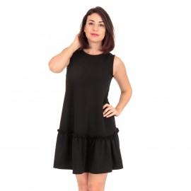 Μαύρο Mini Φόρεμα με  Βολάν