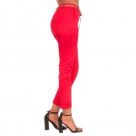 Κόκκινο Παντελόνι με Ζωνάκι