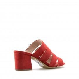 Κόκκινα Καστόρινα Mules s.Oliver με Τακούνι