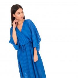 Μπλέ Ρουά Maxi Κρουαζέ Φόρεμα