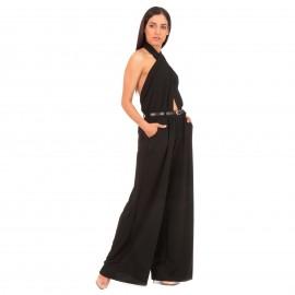 Μαύρη Ολόσωμη Φόρμα Χιαστί με Ανοιχτή Πλάτη