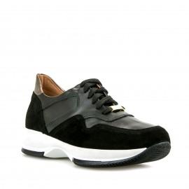 Μαύρα Δερμάτινα Sneakers