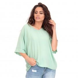 Πράσινη Κοντομάνικη Μπλούζα