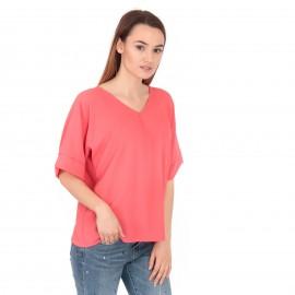 Πορτοκαλί Κοντομάνικη Μπλούζα