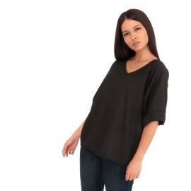 Μαύρη Κοντομάνικη Μπλούζα