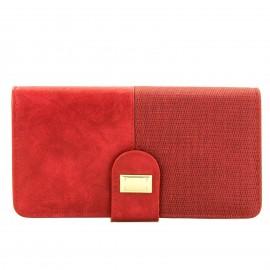 Κόκκινο Πορτοφόλι με Κούμπωμα