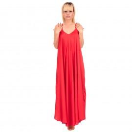 Κόκκινο Σατέν Maxi Φόρεμα
